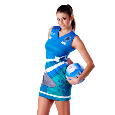 *Sublimated Sports Micromesh A-Line Netball Dress