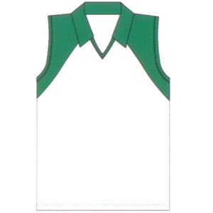 *Childrens Polyester / Cotton Interlock Sleeveless V Neck with Contrast Panels