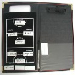 Magnetic coaches board with folder